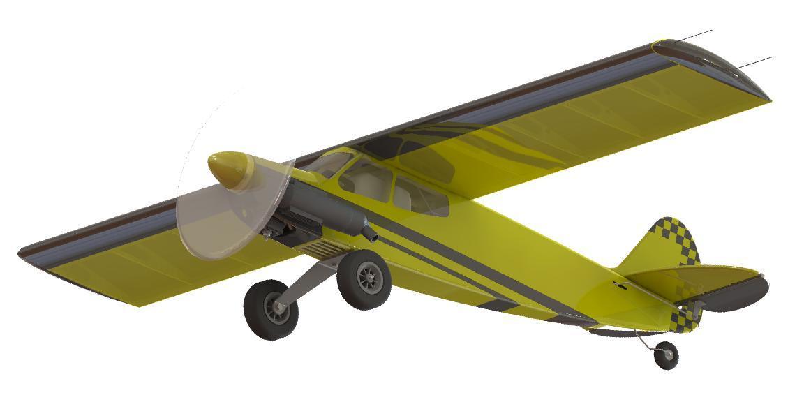 Кордовая тренировочная модель PML-1004 КОЛИБРИ