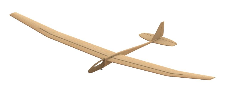 Свободнолетающая модель планера PML-3010 СТРЕКОЗА
