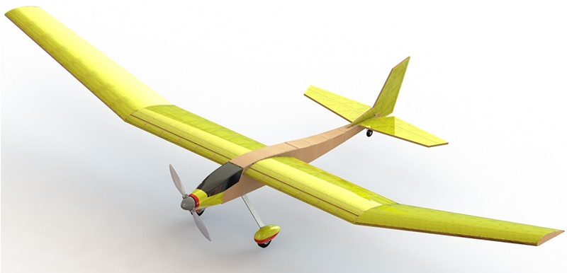 Model of a glider PML-5005 Typhoon